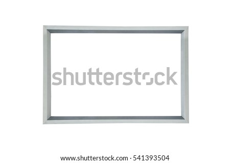 Blank billboards frame for new advertisement commercial leave a message information ad on white background