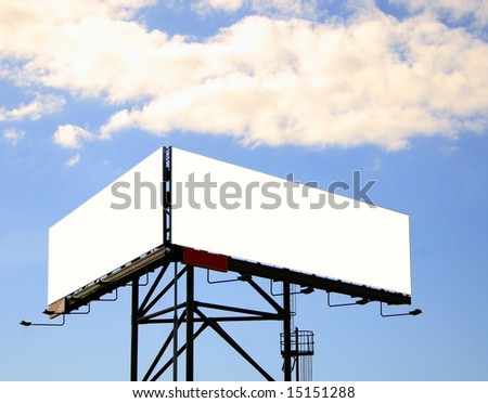 blank billboards with clipping path - stock photo