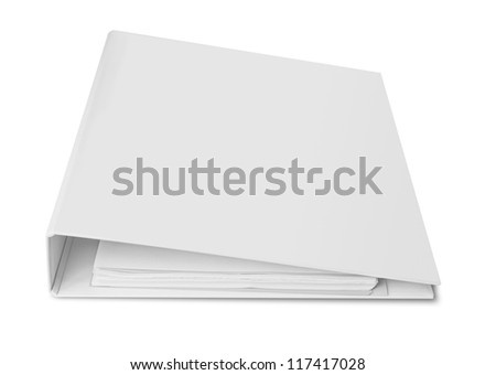 Blank binder for documents - stock photo