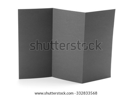 Blank black booklet on white background