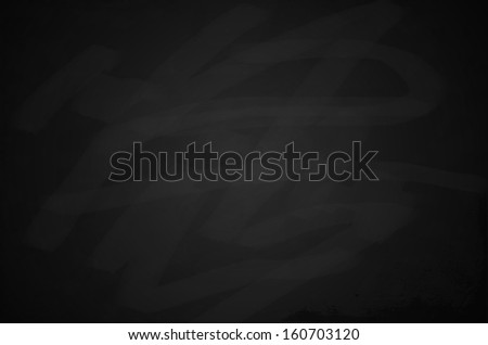 Blank black chalkboard background - stock photo