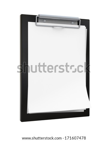 blank black clipboard isolated on white background