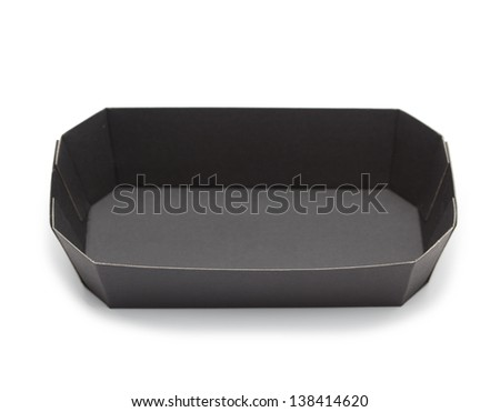 paper food tray template - paper food tray stock images royalty free images