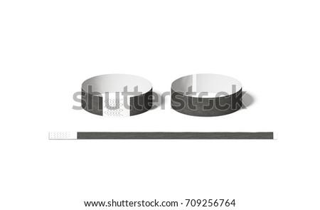 Blank Black White Paper Wristband Mockup Stock Illustration ...
