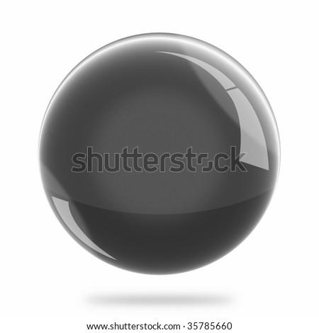 Blank Black Sphere Float - stock photo
