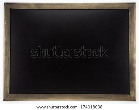 blank blackboard, back to school and advertising concept and ideas - stock photo