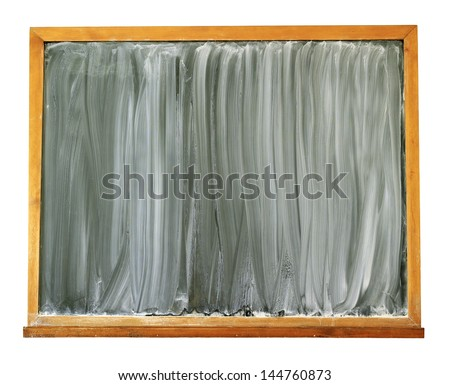 Blank blackboard isolated on white