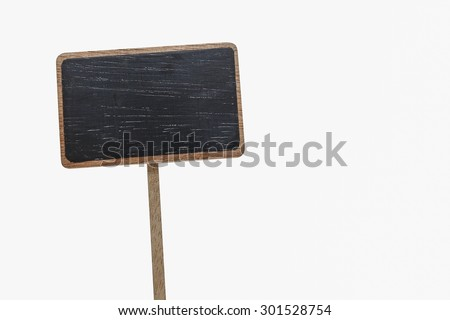 Blank blackboard label isolated on a white background - stock photo