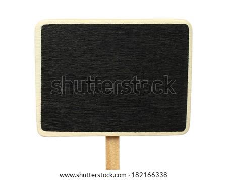 Blank blackboard on white background   - stock photo