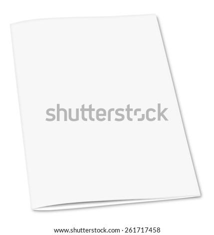 Blank. Blank closed magazine isolated on white background - stock photo