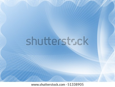 Blank blue certificate background. - stock photo