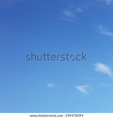 Blank blue sky - stock photo