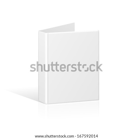Blank Book Cover, Binder or Folder Template. Raster Version - stock photo