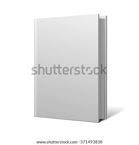 Blank book cover brochure media object