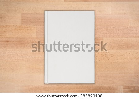 blank book cover illustration - stock photo