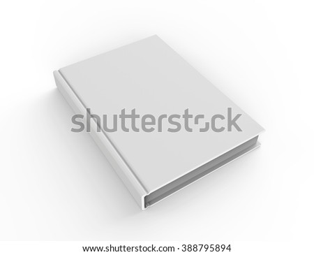 Blank Book Cover, Isolated on a white background.  - stock photo