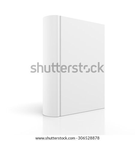 Blank book cover isolated on white background - stock photo