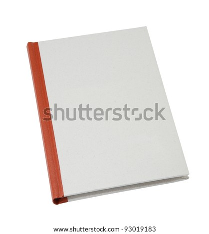 blank book cover made of recycled paper isolated on white background - stock photo