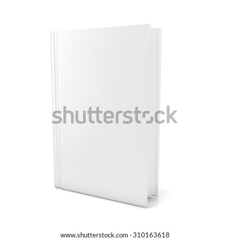 Blank book cover over white background. 3D render illustration isolated - stock photo