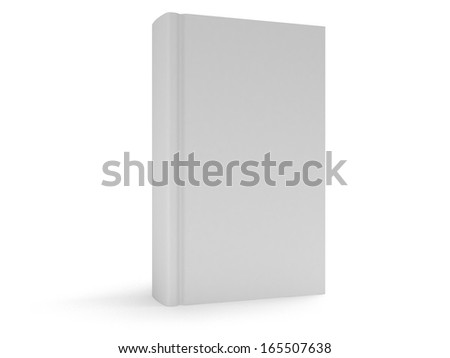 Blank book cover over white background. 3D render. Studing illustration. Back to school. - stock photo