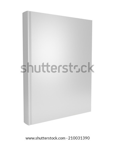 Blank book cover over white background. 3D render. Studying illustration. Back to school.