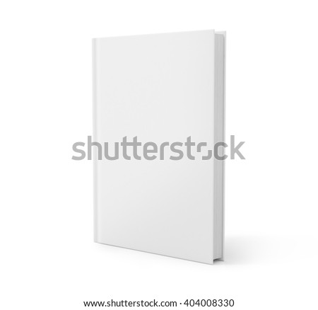 Blank book cover over white background. 3D rendering - stock photo