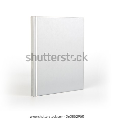 Blank book cover over white background with shadow - stock photo