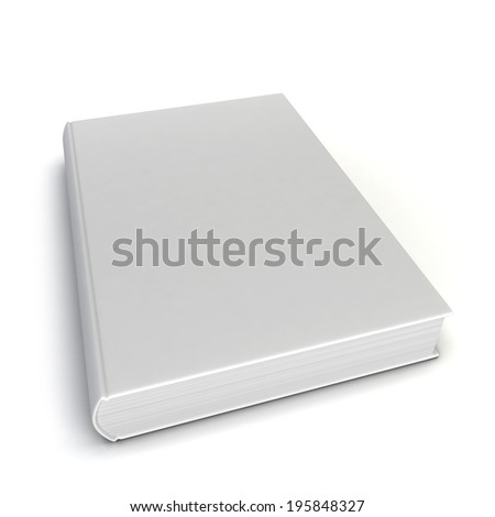 Blank book. 3d illustration isolated on white background