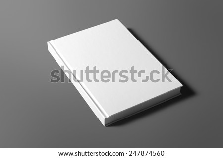 Blank book isolated on grey to replace your design - stock photo