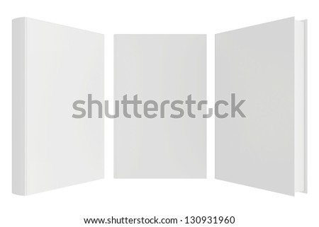blank book isolated on white background - stock photo