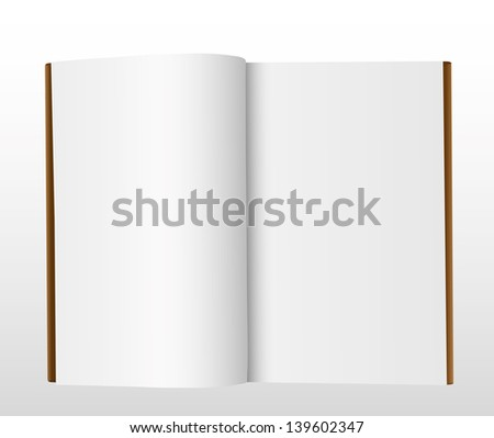 Blank book on gray
