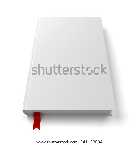Blank book with a bookmark - stock photo
