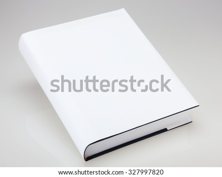 Blank book with hard white cover - stock photo