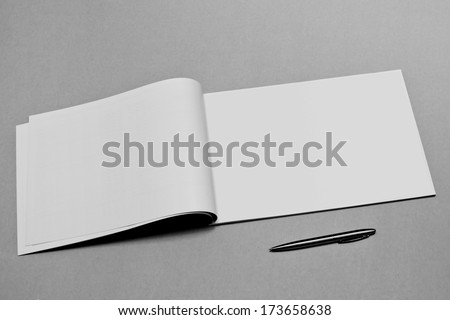 Blank. Booklet isolated on textured background - stock photo