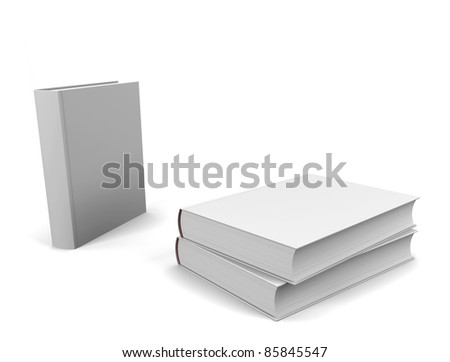 Blank books - stock photo