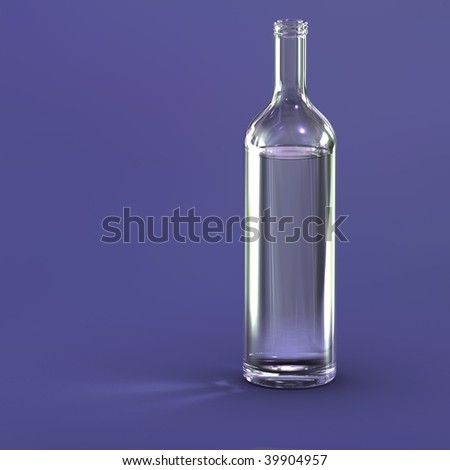 Blank bottle - stock photo