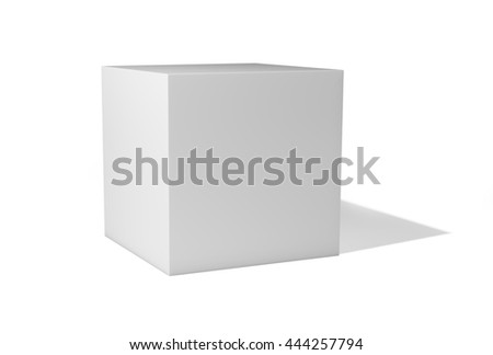 Blank box isolated on white background. 3d illustration