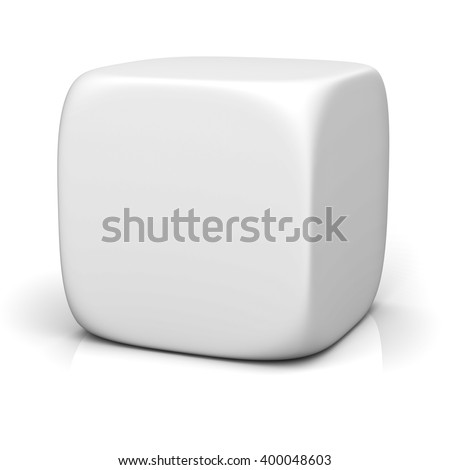 Blank box isolated on white background with reflection. 3D rendering.
