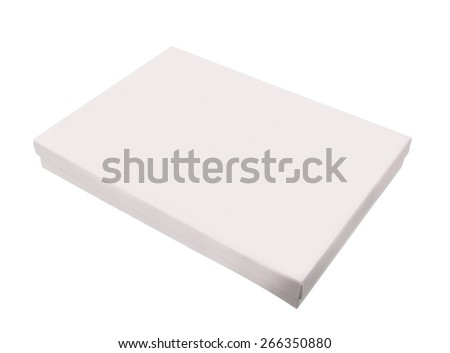 Blank box on white background