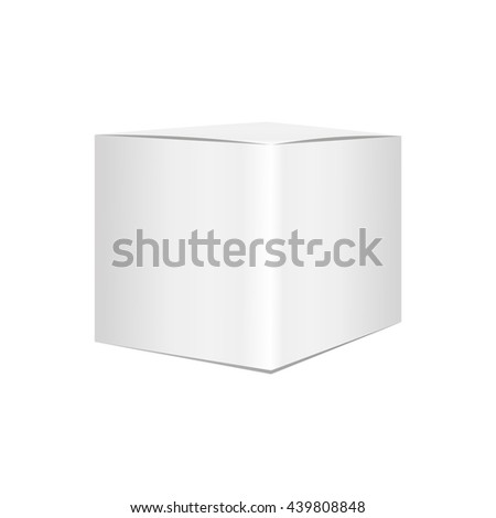 Blank box on white background. white box isolated. white box vector. 3d white box. 3d white box vector. blank box. blank box vector. white package. white package vector.  square white box vector.  - stock photo