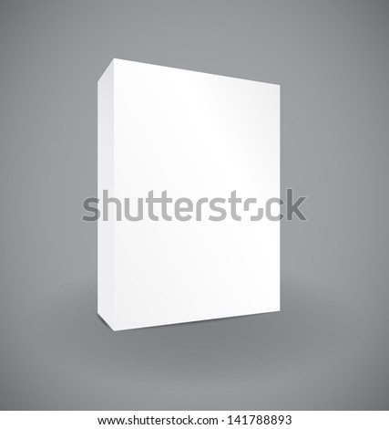Blank box on white background with reflection illustration design