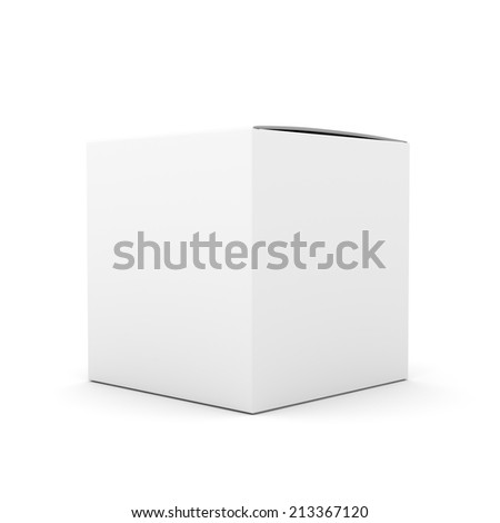 blank box product template - stock photo