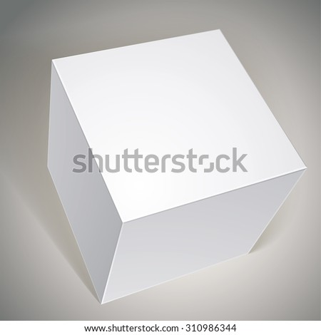 Blank box, template for your package design, put your image over the pack in multiply mode - stock photo