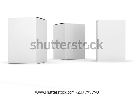 blank box vertical products template - stock photo