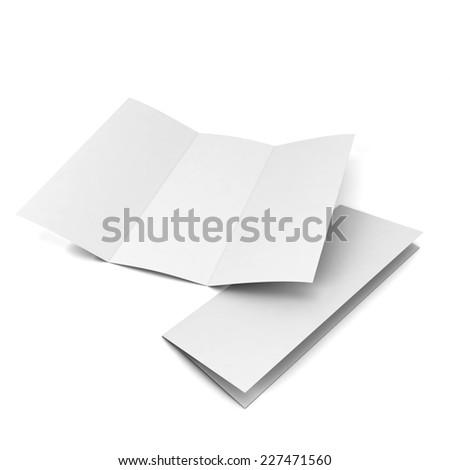 Blank brochure. 3d illustration isolated on white background  - stock photo