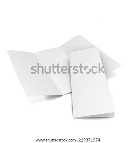 Blank brochure. 3d illustration isolated on white background