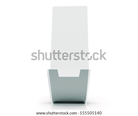 Blank brochure glass holder template for designers - stock photo