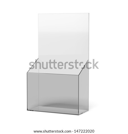 blank brochure holder - stock photo
