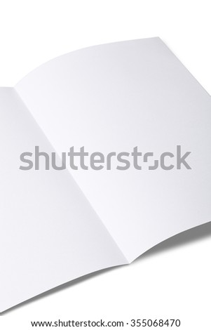 Blank Brochure magazine isolated on white to replace your design