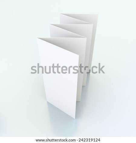 blank brochures with six wings